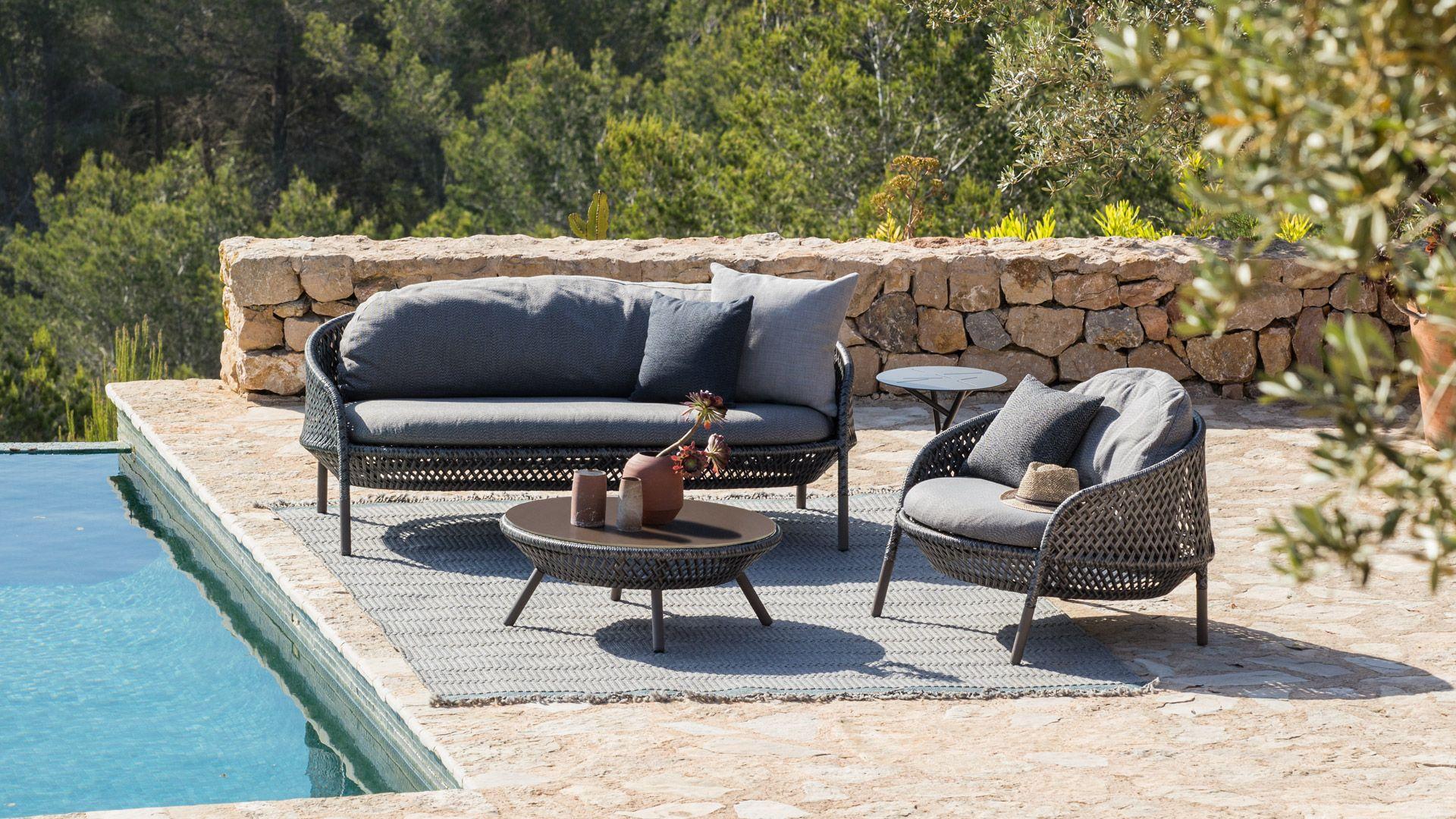 Dedon Ahnda Collection Outdoor Furniture Sofa Outdoor Sofa Outdoor Furniture