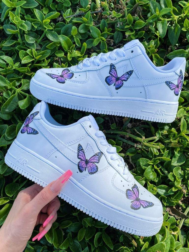 ROYAL PURPLE BUTTERFLY NIKE AIR FORCE 1🦋💜 THE CUSTOM