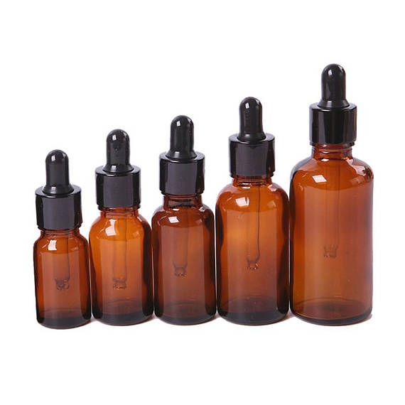 e5caa5bd84cd Essential Oil Dropper Bottle, Amber Glass Bottles with Dropper ...