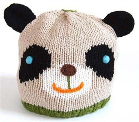 Adorable Hand Knit Panda Hat His Name Is Bamboo Blabla Spotted