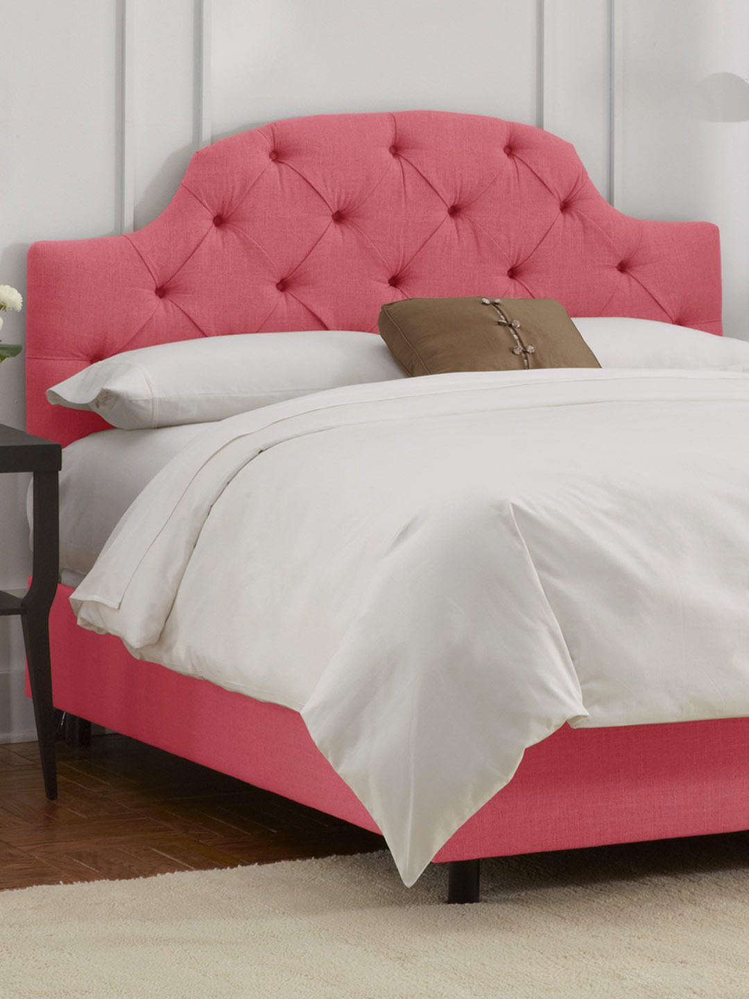 But Maybe Make Mattress Cover Out Of The Same Material I Use To Upholster Headboard Curved Tufted In Linen C Gilt Home