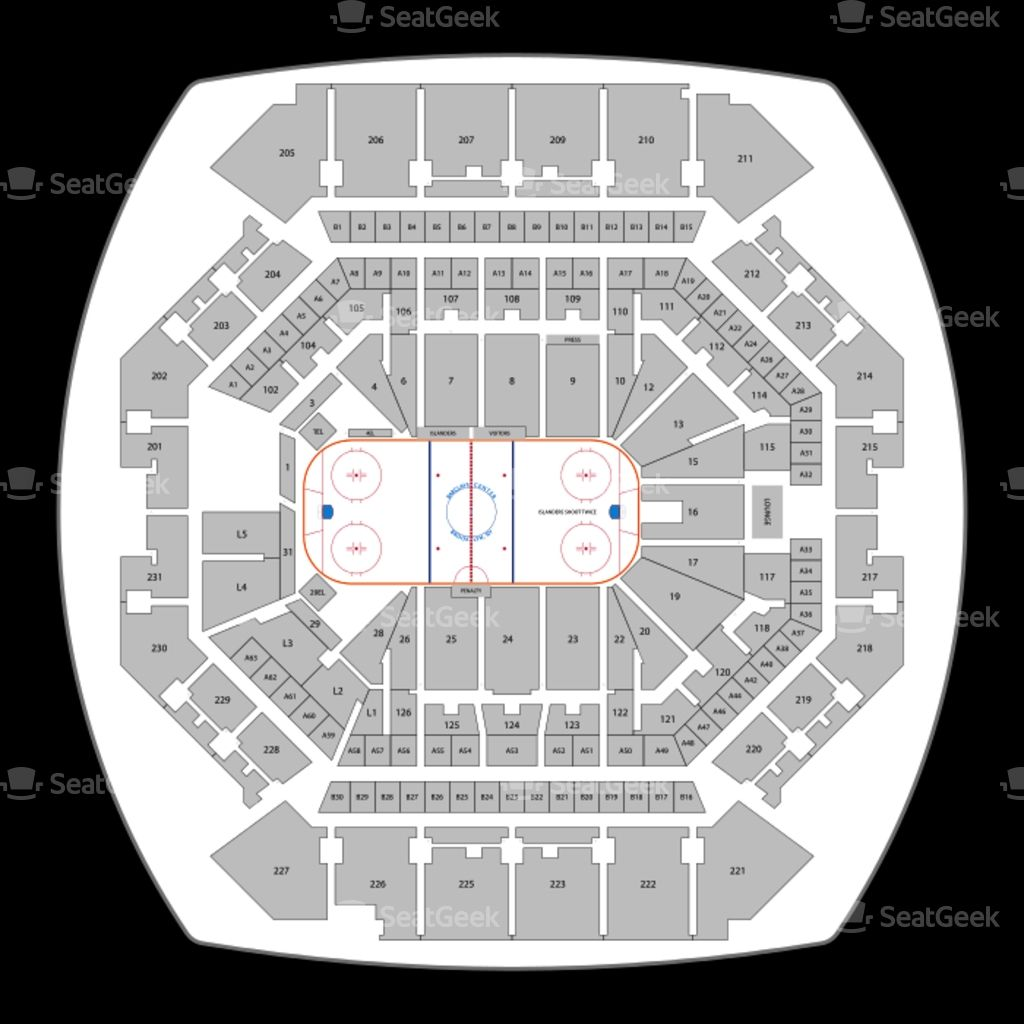 Barclays Seating Chart Concert Seating Charts New York Islanders Seating