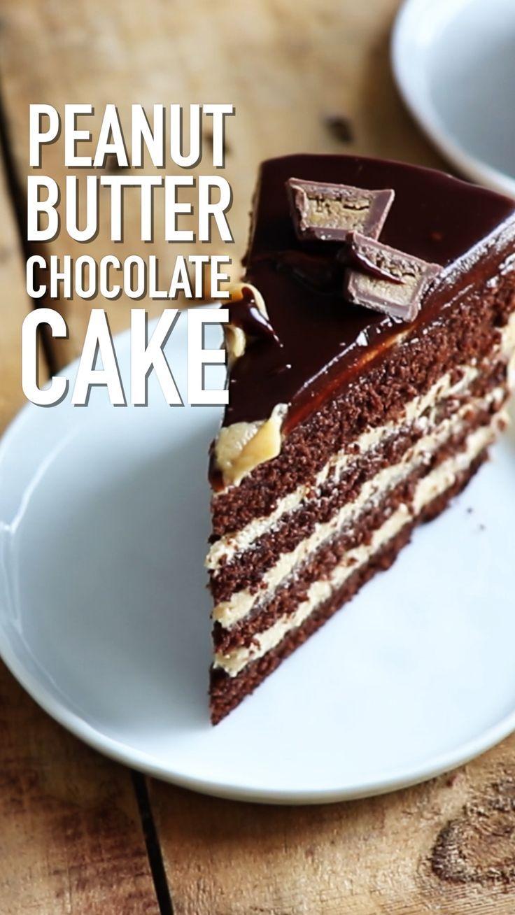 Gâteau Au Chocolat Au Beurre De Cacahuète | Gâteaux et ...