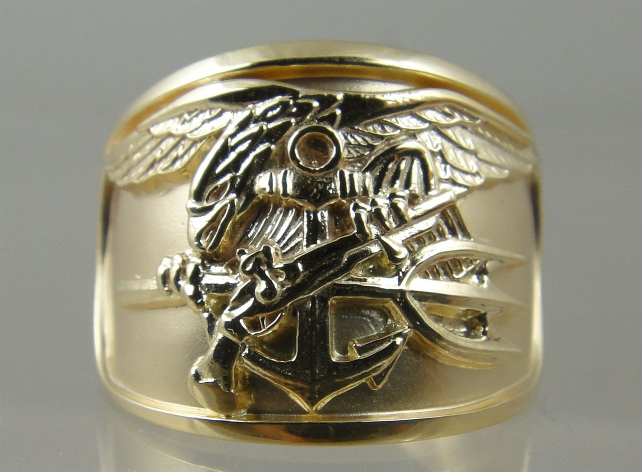 stainless force steel army plated usaf navy rings gold s air us military mens rhinestones men product ring