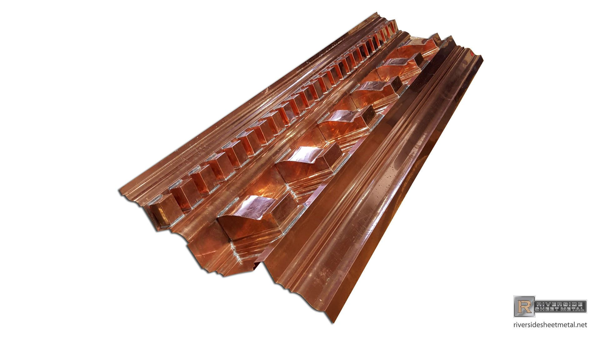 Custom Copper Cornice With Dentil Work And Radius Sections Cornice Copper Metal