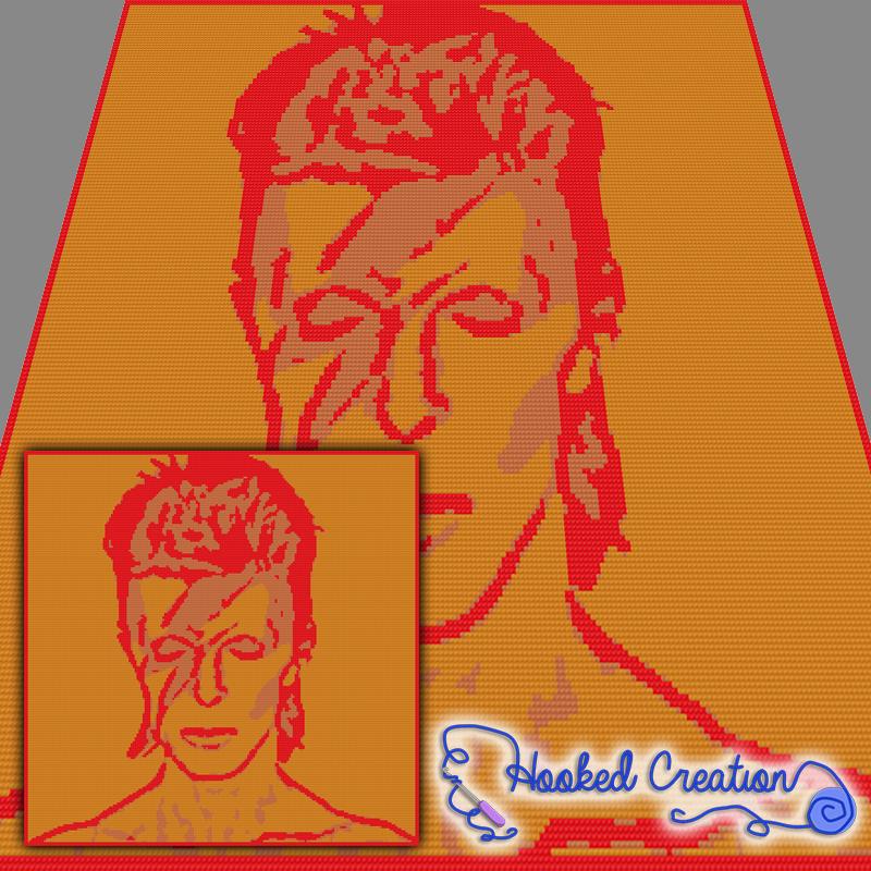 David Bowie Sc Throw Blanket Crochet Pattern - PDF Download | C2C ...