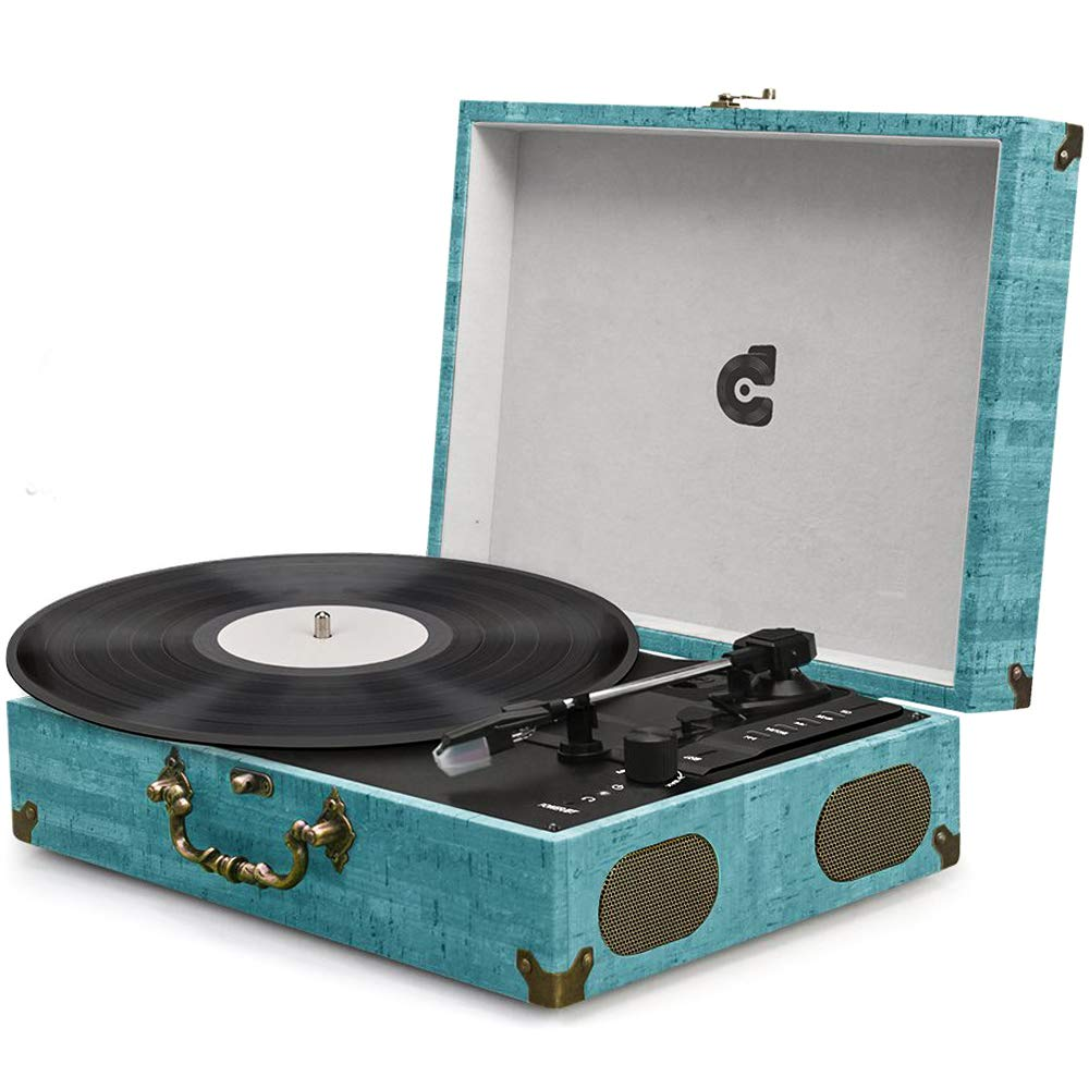 Wockoder Portable Suitcase Stereo Turntable Review Top Record Players Vinyl Record Player Record Player Best Record Player