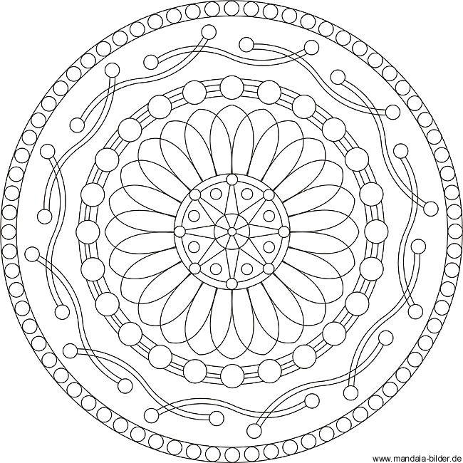 malvorlage linie | Kostenlose Mandalas für Erwachsene - Wohltuender ...
