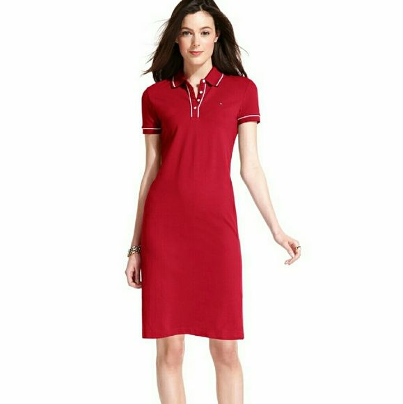 641ba31e Woman's Tommy Hilifiger Emma Polo Dress Tommy Hilifiger Red Polo Dress  Tommy Hilfiger Dresses Midi