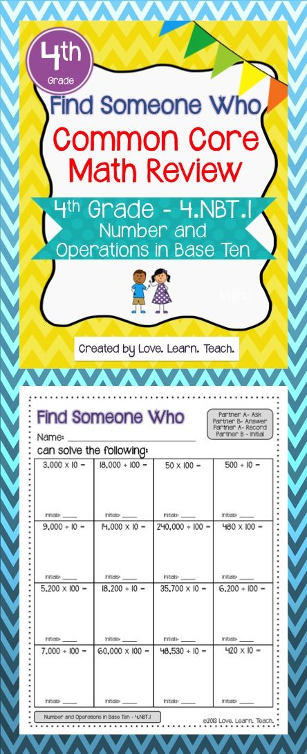 4th Grade Place Value | Multiply by 10 and 100 | Base Ten Number ...