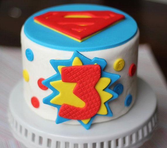 Superman Cake Decorating Kit Topper : Fondant Cake Topper - Over 30 Pieces Superman Inspired ...