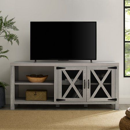 newest af9fb 1c70c Manor Park 58 inch Industrial Farmhouse TV Stand - Stone ...