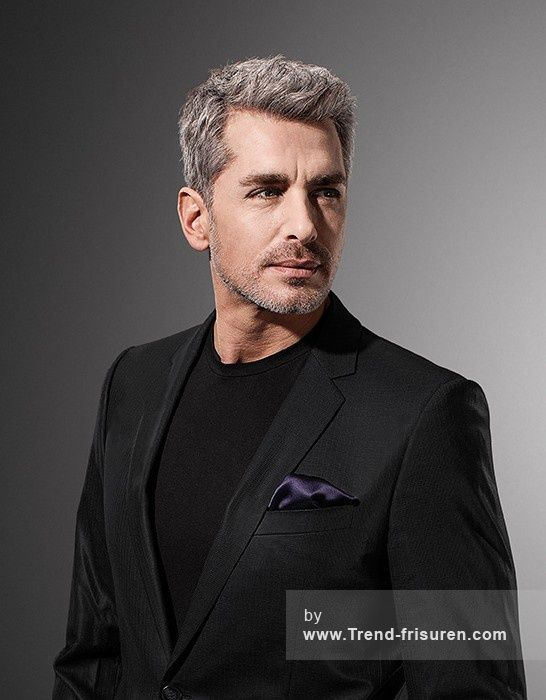 Wella Kurze Grau Mannlich Gerade Herren Haarschnitt Frisuren Hairstyles Older Mens Hairstyles Cool Hairstyles For Men Mens Hairstyles