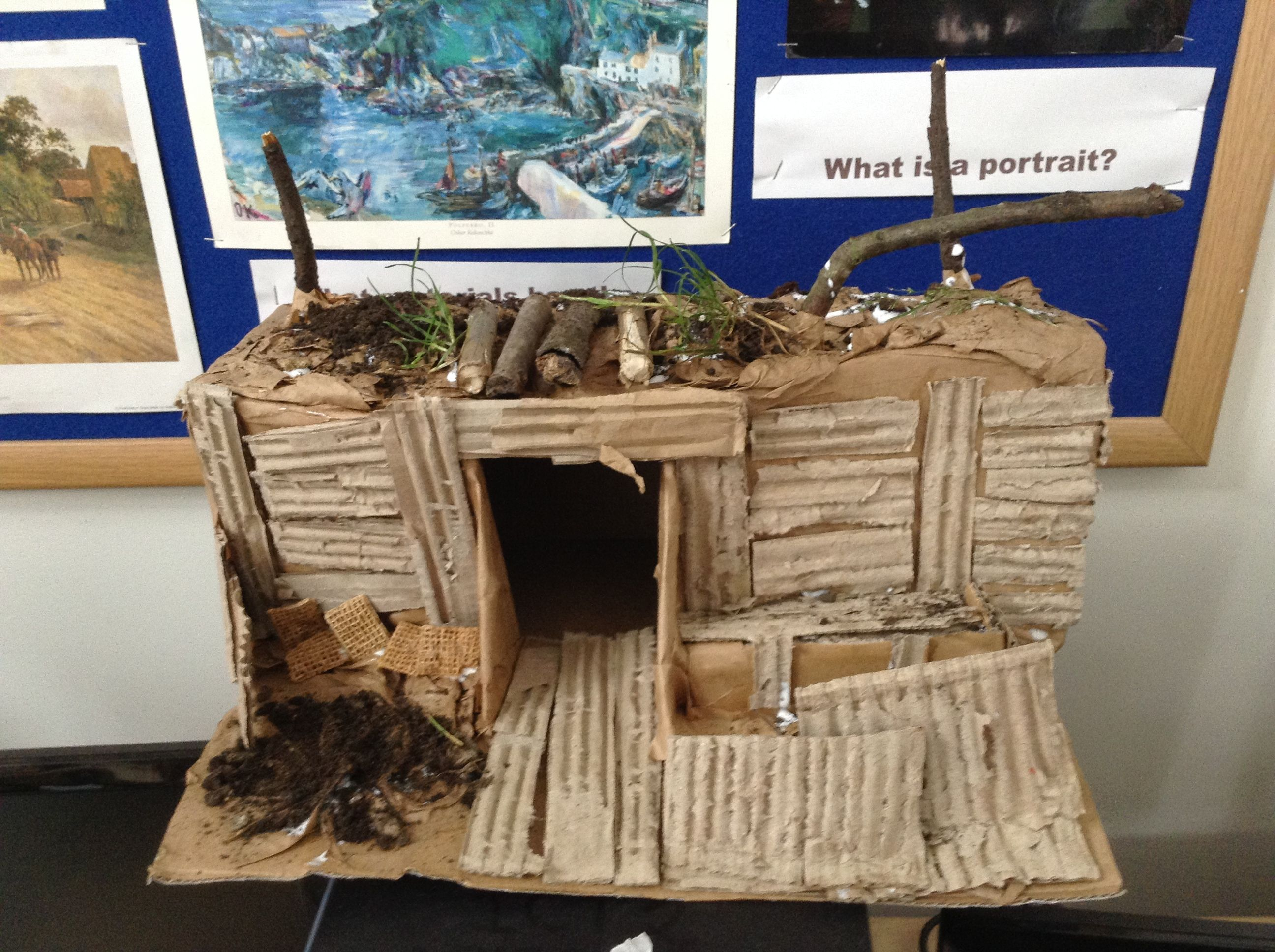 Model Of A Ww1 Trench By Year 6