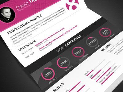 Dribbble My Cv By David T Resume Design Creative Resume Resume Design Creative
