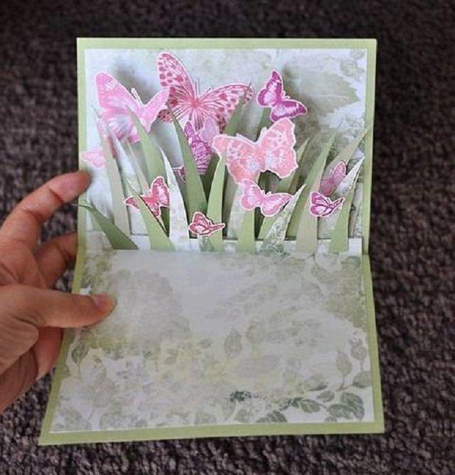 Как сделать открытку раскладушку своими руками из бумаги на 8 марта
