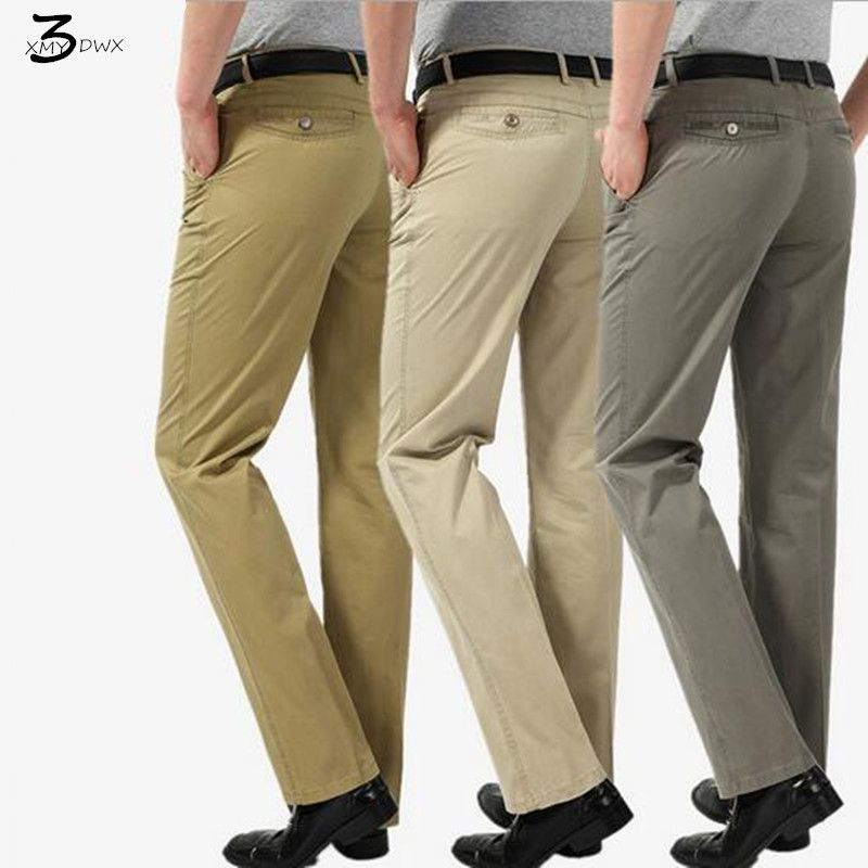 Xmywx Men Brand Fashion Leisure Business Thin Cotton Trousers Office Traveling Pants