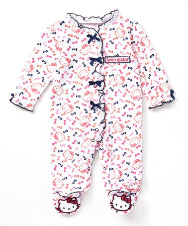 Another great find on #zulily! Pink Bow Hello Kitty Footie - Infant #zulilyfinds