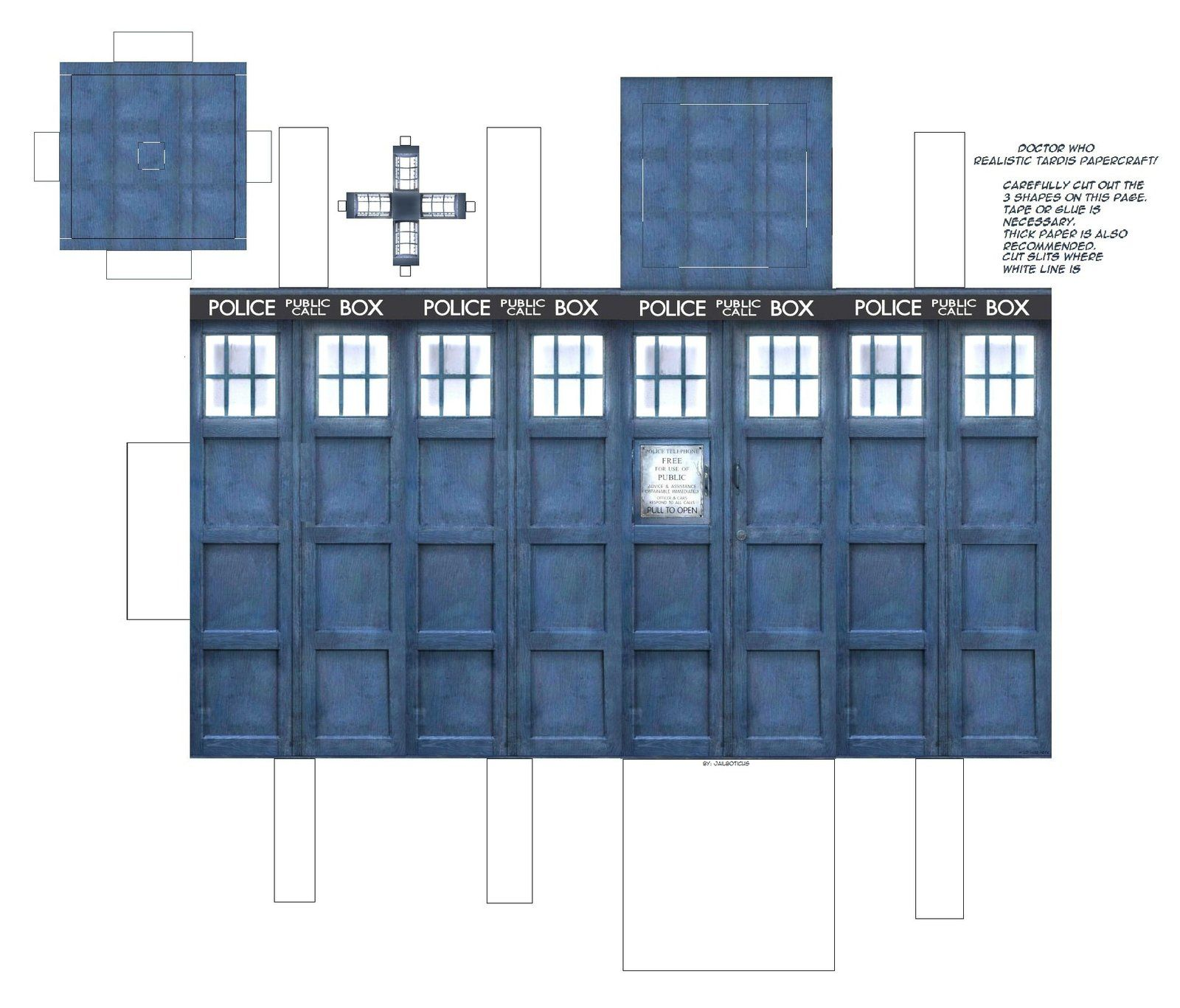 Doctor Who Tardis Papercraft by Jailboticus on deviantART | Geek Out ...