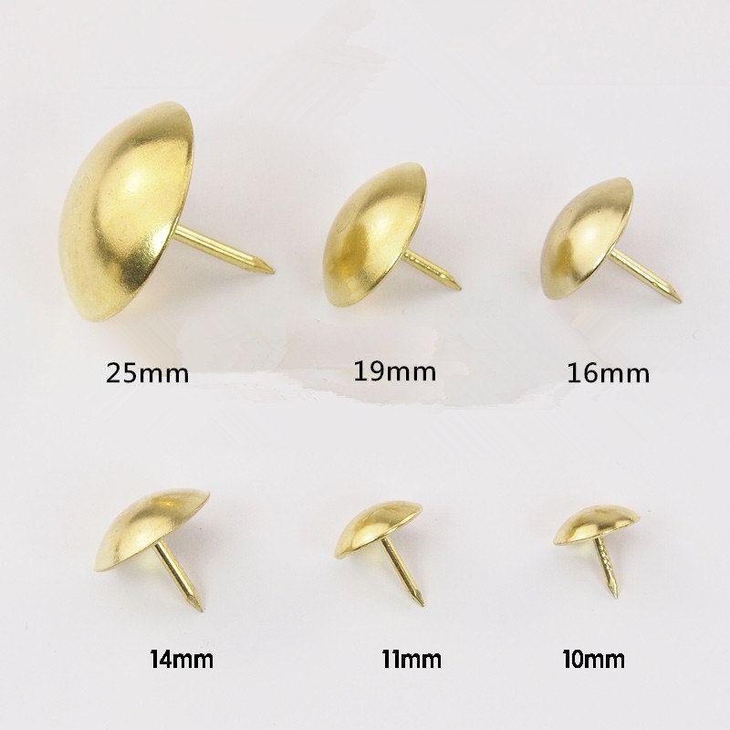 8 Size 8mm 25mm Golden Color Push Pins Upholstery Tacks Nails Sofa
