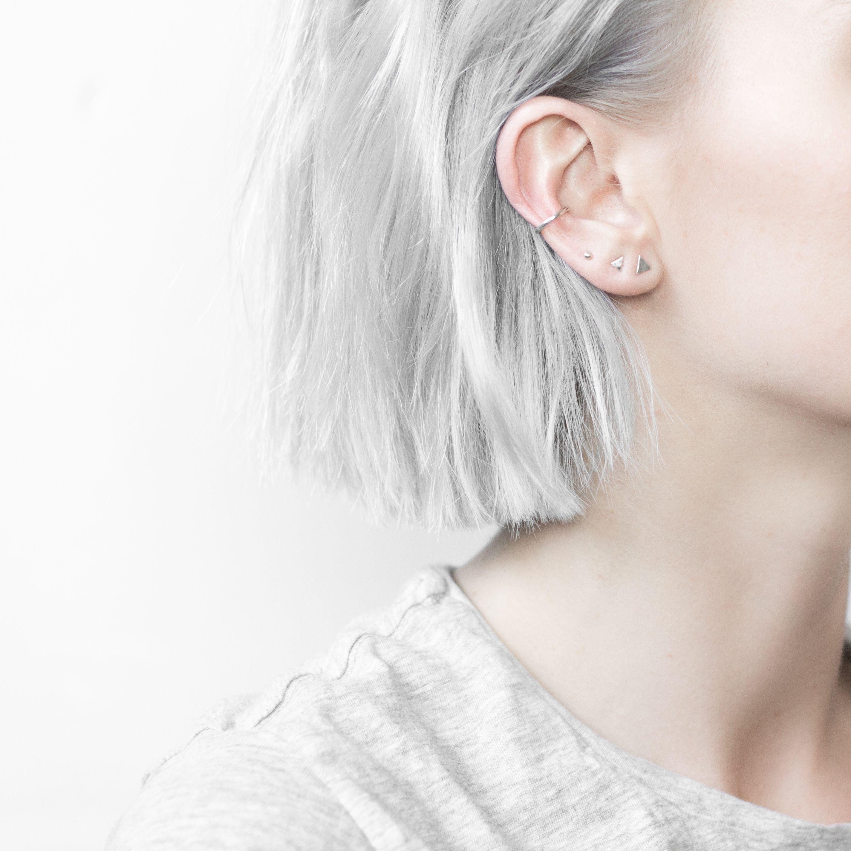 minimal 4 piece earring set piercing oreilles oreilles et percing. Black Bedroom Furniture Sets. Home Design Ideas