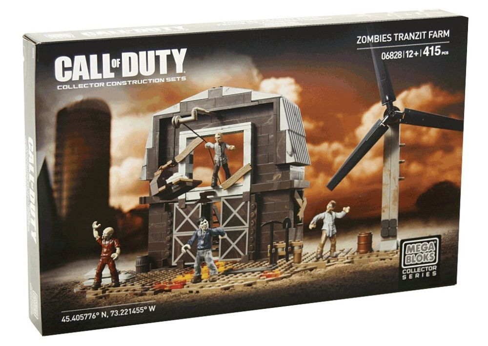 Mega Bloks 06828 Call of Duty Zombies Tranzit Farm Collector Set NEW /& SEALED