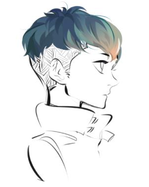 Corte de pelo estilo manga