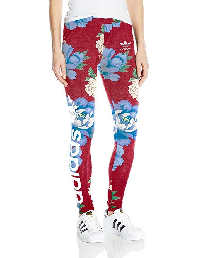 b54a0a2c8073c adidas Originals Women's Linear Leggings, Farm Chita Floral, XS ...