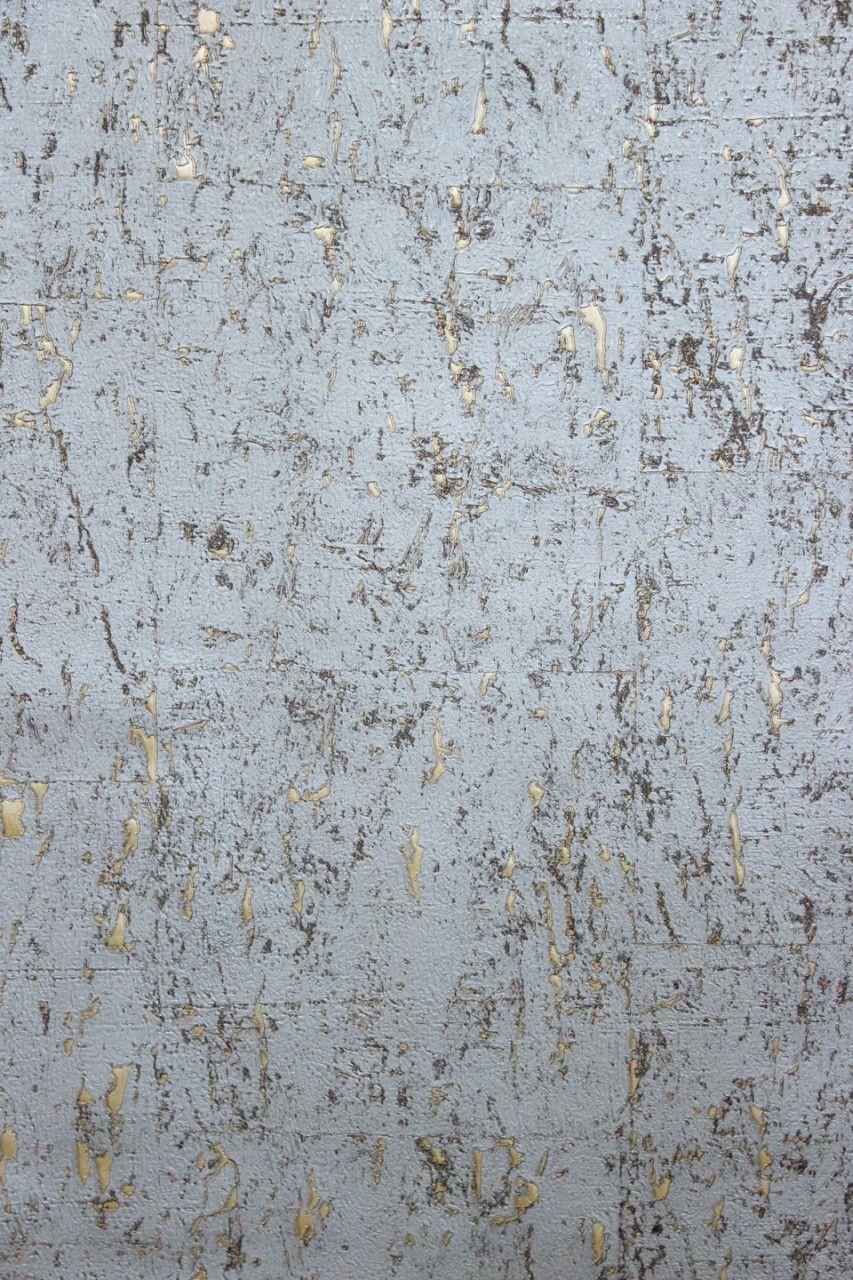 Vliestapete Kork Beton Optik Grau Gold Metallic Schimmernd Tapeten Tapete Betonoptik Tapete Fliesenoptik