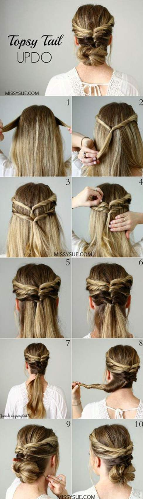 Easy 4 Minute Hairstyles For Long Hair #hairstyles