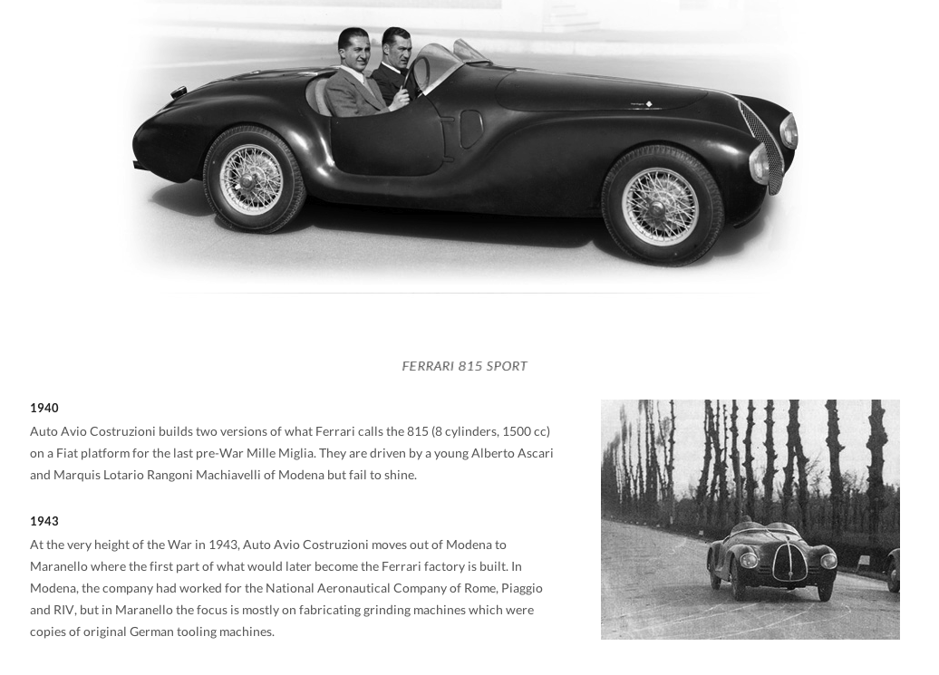 The first car Enzo Ferrari built under his own name. The 815 ...
