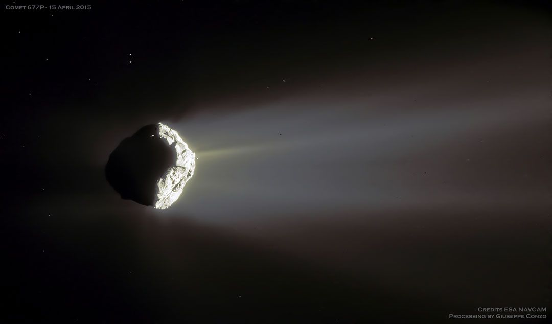 Comet Churyumov Gerasimenko In Crescent Astronomy Pictures
