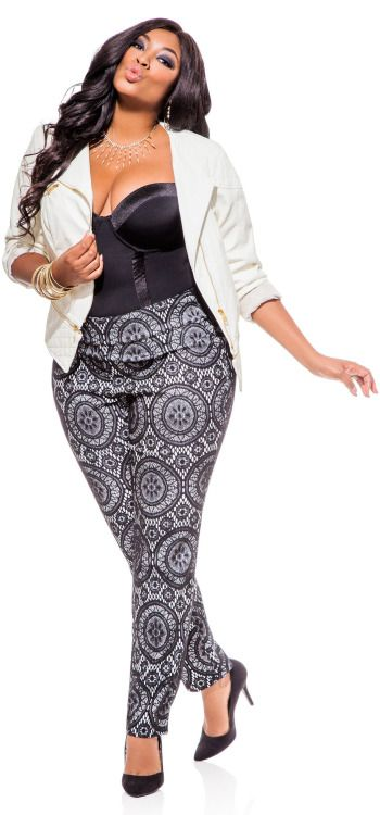874f4533efc Nice plus size outfit  . Liris Crosse in Ashley Stewart s Ultra Smoothing  Body Suit