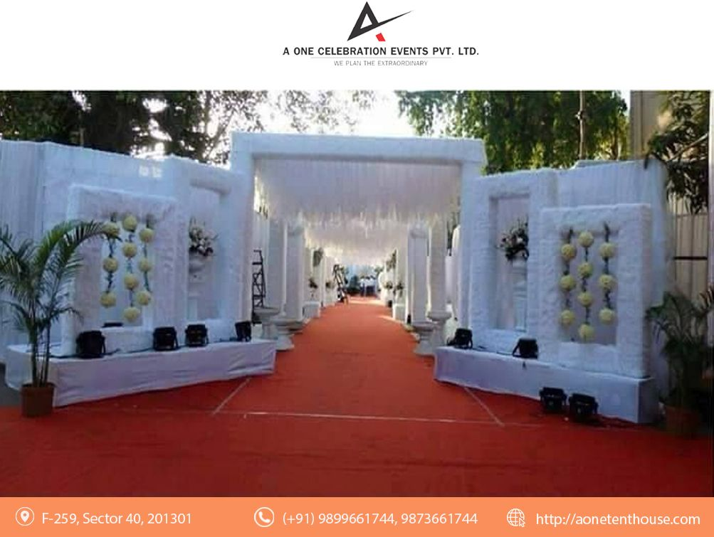 Wedding Decorators In Delhi A One Tent House Visit Http Www Aonetenthouse Com Feel Free T Wedding Entrance Decor Diy Wedding Decorations Wedding Entrance