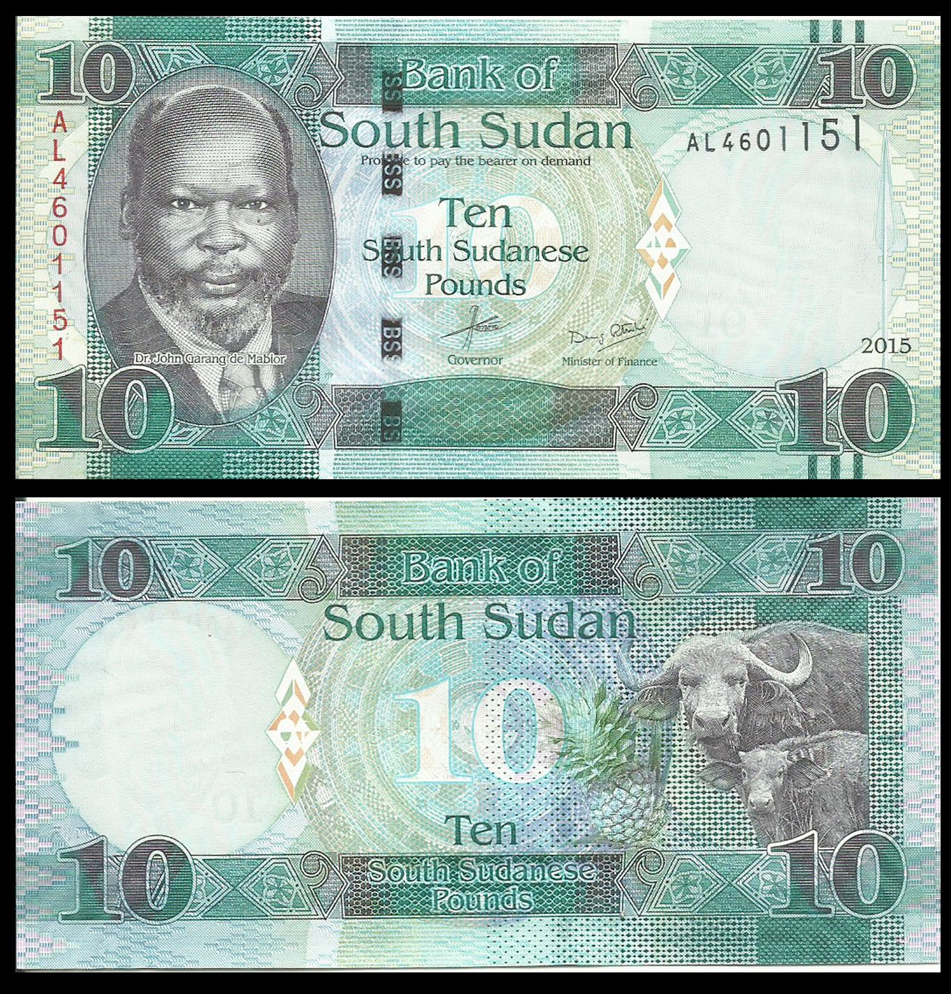 South Sudan 10 Pounds In