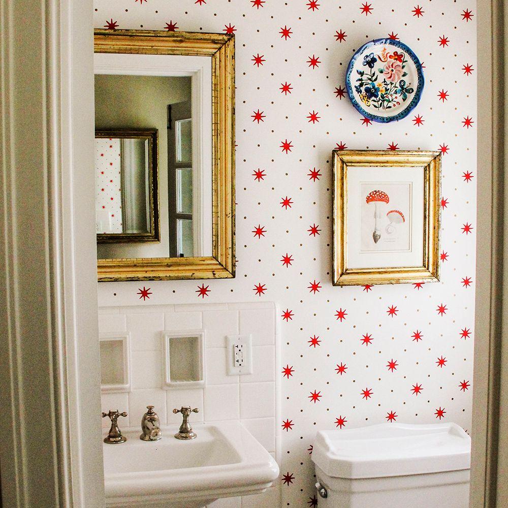 Wallpaper Home decor, Bathroom wallpaper, Diy interior