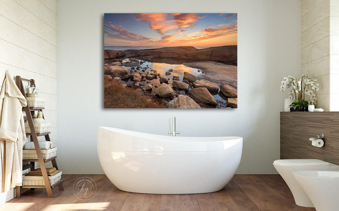 Large Coastal Tide Pool Photography Order As Unframed