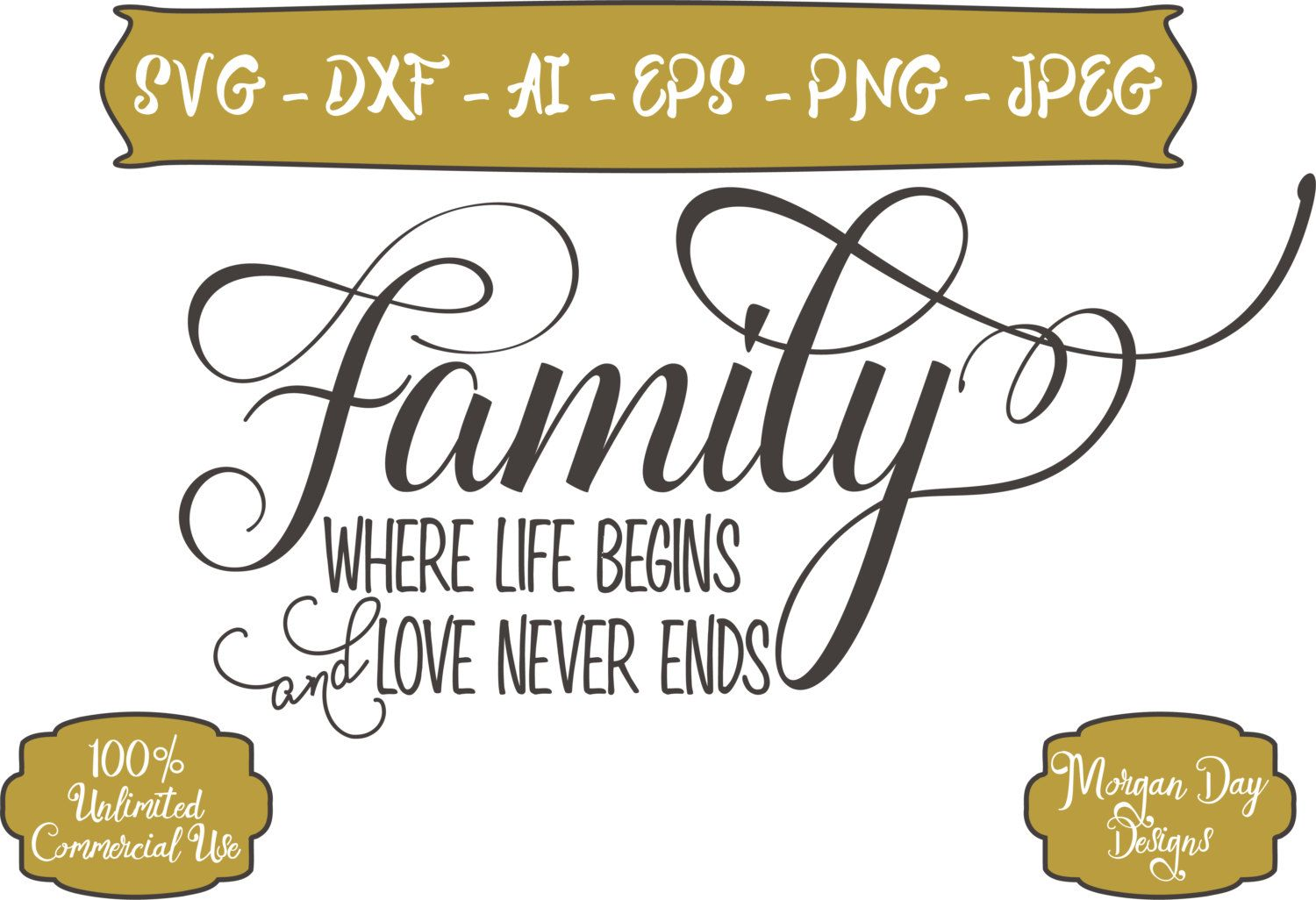 Download Family Where Life Begins and Love Never Ends SVG - Family ...