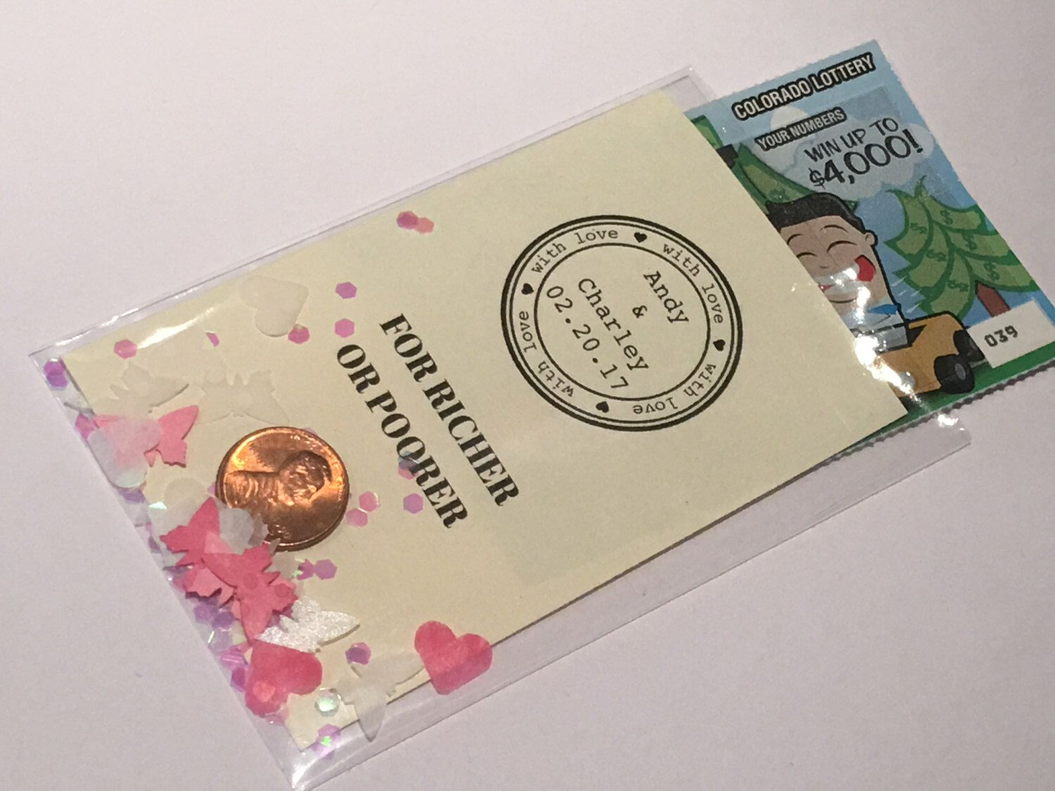 Magnificent Lottery Ticket Holders Wedding Favors Gift - The Wedding ...