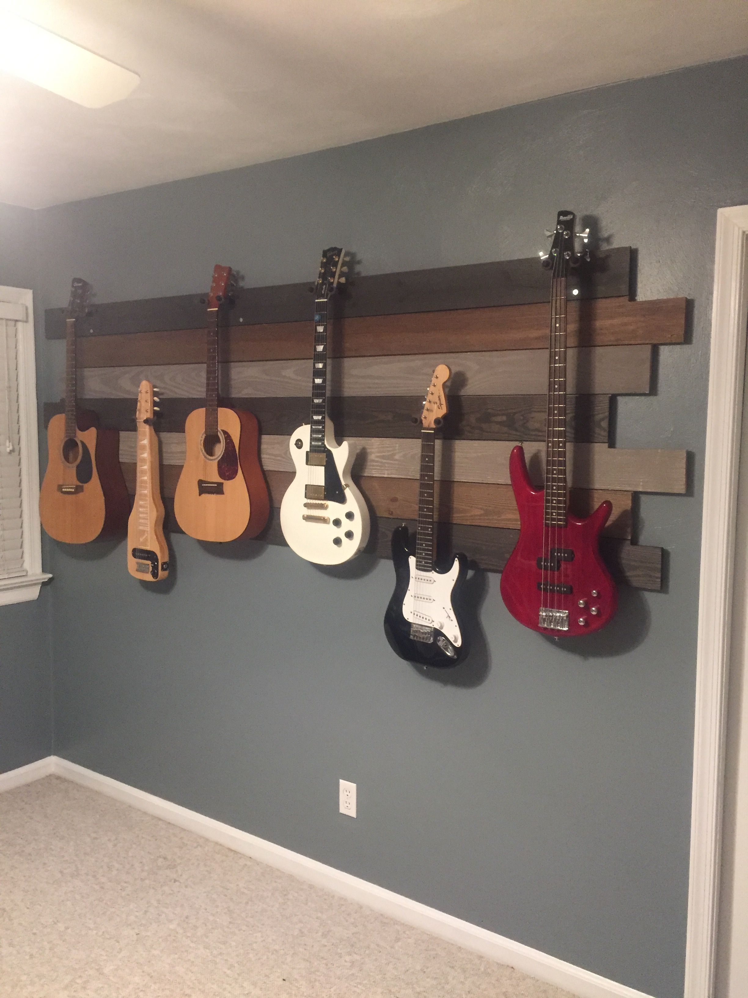 Music hangout room guitar wall Hang out rooms Pinterest