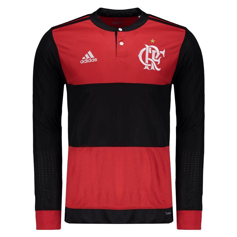 d523bc1ec1755 Camisa Adidas Flamengo I 2017 Manga Longa Somente na FutFanatics você  compra agora Camisa Adidas Flamengo I 2017 Manga Longa por apenas R   269.90. Flamengo.