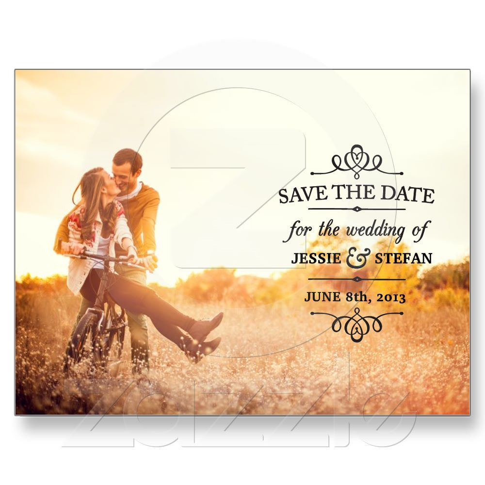 Simple Vintage Save the Date Post Card from Zazzle.com