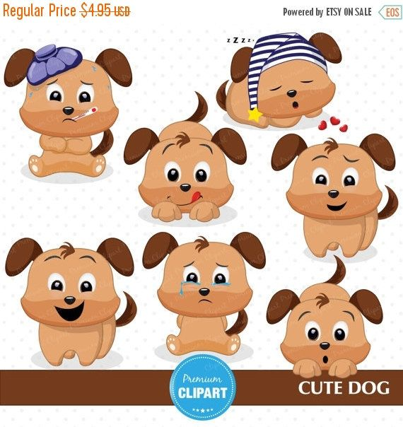 Dog clipart, Puppy clipart, Emotions graphics, Dog clip art ...