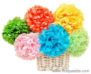 Cinco De Mayo Craft For Kids Mexican Tissue Paper Flowers Craft