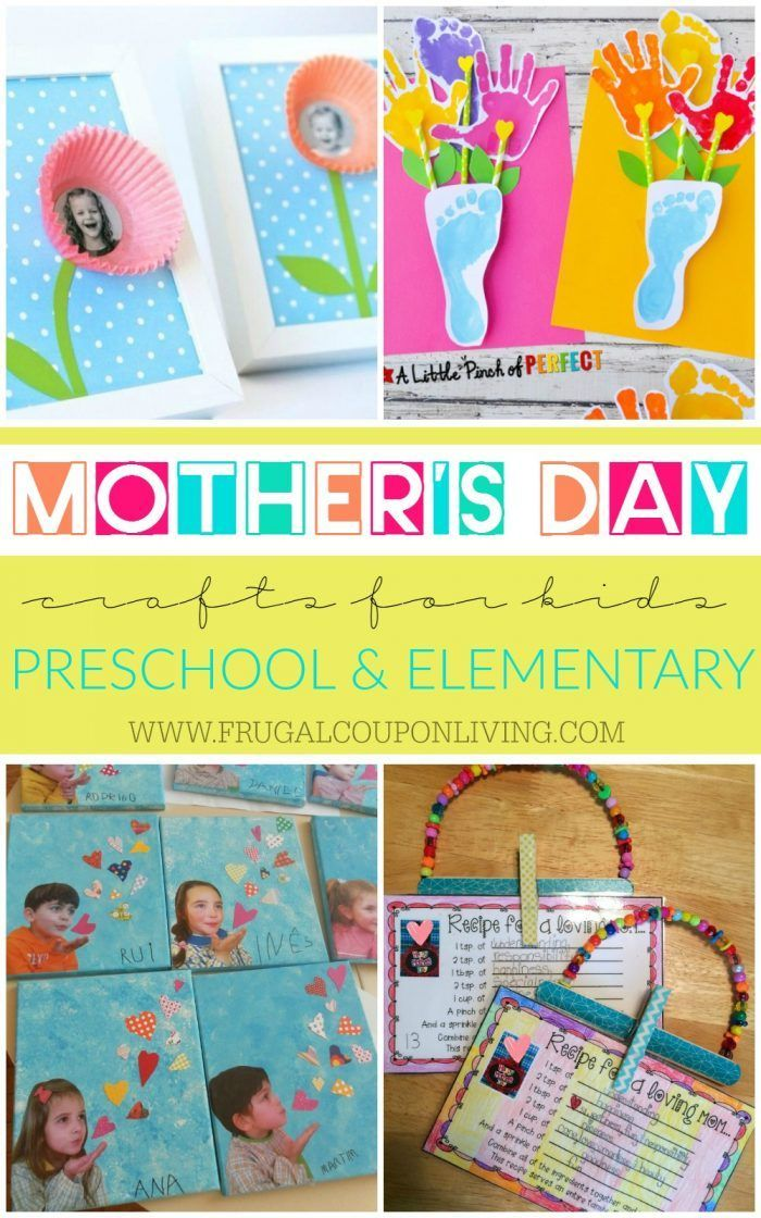Mother S Day Crafts For Kids Preschool Elementary And More