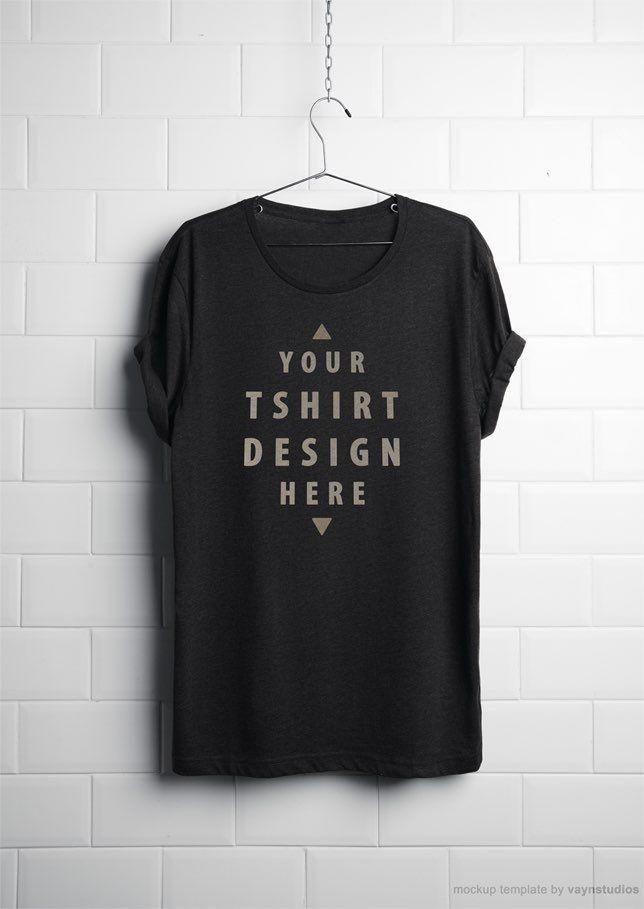 Free Realistic Hanging T Shirt Mockup Psd Shirt Mockup Tshirt