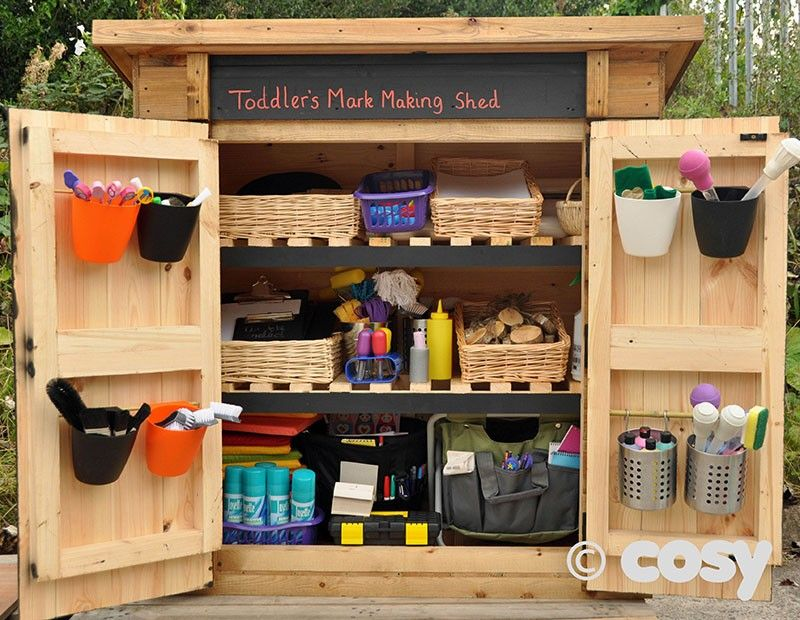 Outdoor Classroom Ideas Year 1 ~ Self selection shed for outdoor continuous provision
