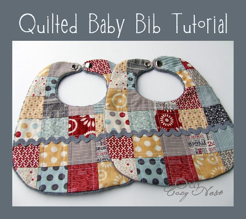 Cute Easy And A Great Scrap Project Quilted Baby Bib