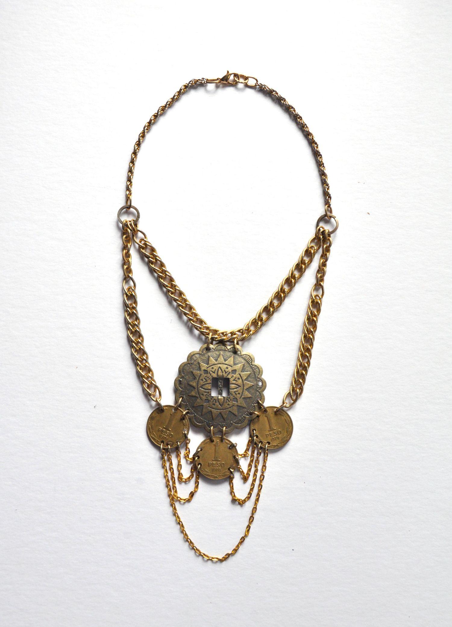 wanderlust brass coin & concho necklace — FOURTEEN ELEVEN DESIGNS