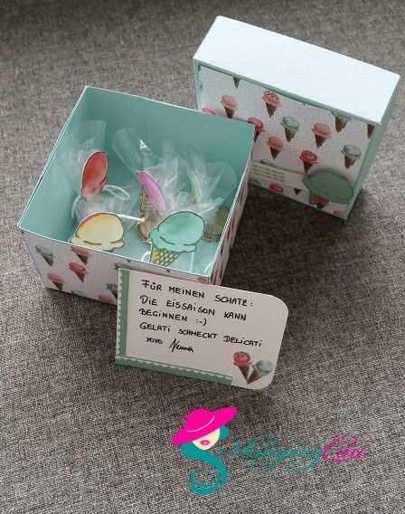 Eis Gutschein Box | Gutscheine, Gutschein eis, Gutschein